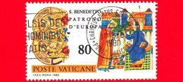 VATICANO - Usato - 1980 - 15º Centenario Della Nascita Di San Benedetto Da Norcia - San Benedetto E I Codici - 80 - Vatican
