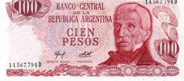 ARGENTINA 100 PESOS LEY  1977  P-302a2  UNC - Argentinien