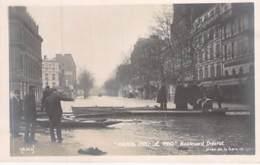 INONDATIONS De PARIS 12 ème ( Série Paris Inondé ) Boulevard Diderot ( Bon Plan Barques ) - CPA Photo - Seine - De Overstroming Van 1910