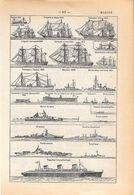 Marine. Stampa 1954 - Vieux Papiers