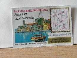 GV-33 GRATTA E VINCI -  LE CITTÀ DELLA FORTUNA -  SESTRI LEVANTE-  BIGLIETTO N° 47-060985-219 - Biglietti Della Lotteria