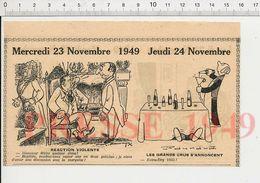 2 Scans Humour Accident De Voiture Oeufs Durs Oenologie Grands Crus Extra-Dry 1933 Entonnoir Vin Boisson 229ZL - Vieux Papiers