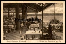 ALTE POSTKARTE BERLIN 20ER JAHRE KAISER PAVILLON WANNSEE TERRASSE MIT AUSSICHT AUF DEN SEE Ansichtskarte AK Cpa Postcard - Wannsee