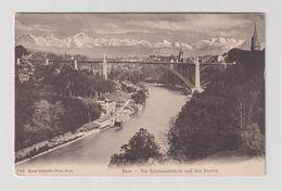 SUISSE - BERN:  DIE  KORNHAUSBRUCKE  UND  DAS  AARETAL  -  NACH  FRANKREICH  -  KLEINFORMAT - Ponts