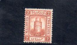 MALDIVES 1909 * - Maldives (...-1965)