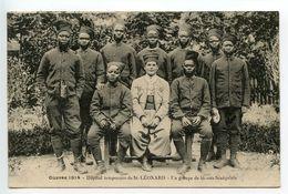 Saint Léonard De Noblat Hôpital Temporaire Un Groupe De Blessés Sénégalais - Saint Leonard De Noblat
