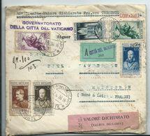 VATICAN - LETTRE CHARGÉE VALEUR DÉCLARÉE A Destination De MAINTENON - 1936 - Document R.R.R. - Vatican
