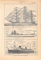 Navire. Stampa 1954 - Vieux Papiers