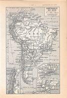 Amerique Du Sud. Stampa 1954 - Vieux Papiers