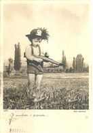 """8541 """" IL MOSCHETTO E' PREPARATO""""BAMBINO CON CAPPELLO DA BERSAGLIERE E FUCILE -CARTOLINA POSTALE ORIGINALE SPEDITA 1943 - Humor"""