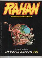 RAHAN INTEGRALE NOIRE N° 23 BE 01/1986 Cheret Lecureux (BI4) - Rahan