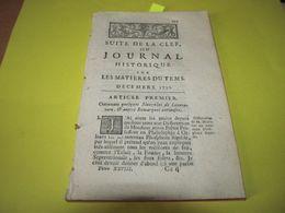 HISTOIRE FRANCE / ETATS-UNIS - LOUISIANE - NOUVELLE ORLEANS - L'ATTAQUE DES NATCHEZ CONTRE LES FRANCAIS - 1730. - Periódicos