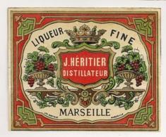 LIQUEUR FINE HERITIER DISTILLATEUR MARSEILLE    C752 - Etiquettes