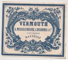 VERMOUTH MEEKELENBURG DECORMIS  MARSEILLE    C752 - Etiquettes