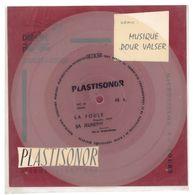 """Disque Plastisonor - Réf MIC 76 - 45 Tours - Plastique Souple Translucide - Série """"Musique Pour Valser"""" - Formats Spéciaux"""