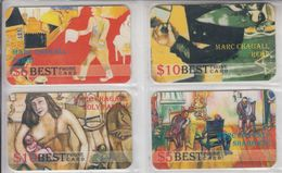 ART MARC CHAGALL PURIM REBE HOLY FAMILY SHABBATH SET OF 4 PHONE CARDS - Malerei