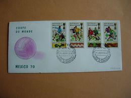 République Rwandaise.364/71 Sur 2  FDC. Coupe Monde De Football à Mexico En 1970 - 1970 – Mexique