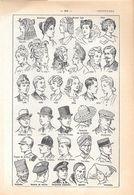 Coiffures. Stampa 1954 - Vieux Papiers