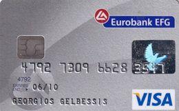 GREECE - Eurobank EFG Visa(reverse Axalto), 01/05, Used - Credit Cards (Exp. Date Min. 10 Years)