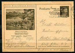 """German Empires 1943 Kopfbild A.Hitler GS Mi.Nr.P305/42-12-1-B17""""Lernt Deutschland Kennen!-Millstatt,Kärnten """"m.MWST.""""1GS - Postwaardestukken"""