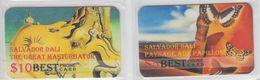 ART SALVADOR DALI 2 PHONE CARDS - Malerei