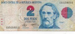 ARGENTINA 2 PESOS 1992  P-340a  CIRC. - Argentinien