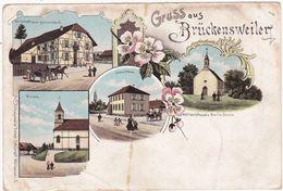 Haut Rhin : BRÜCKENSWEILER  - BRECHAUMONT : Gruss Aus - Multivues ( Précurseur ) - France