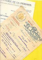 "2 Factures 1927/32 Savon ""La Perdrix"" Bègles (33) - 1900 – 1949"
