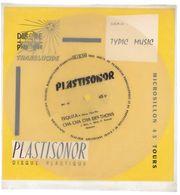 """Disque Plastisonor - Réf MIC 51 - 45 Tours - Plastique Souple Translucide - Série """"Typic Music"""" - Formats Spéciaux"""