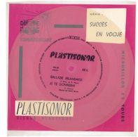 """Disque Plastisonor - Réf MIC 58 - 45 Tours - Plastique Souple Translucide - Série """"Succès En Vogue"""" - Formats Spéciaux"""