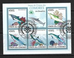 COMORES 2009 DAUPHINS  YVERT N°1656/60 OBLITERE - Dolphins