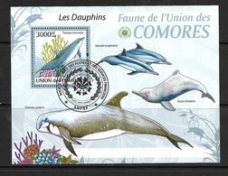 COMORES 2009 DAUPHINS  YVERT N°B198 OBLITERE - Dolphins