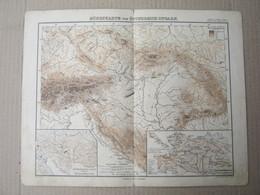 Stieler's Schul Atlas - HÖHENKARTE Von ÖSTERREICH-UNGARN  -Justus Perthes ( Old Map ) - Geographical Maps