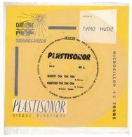 """Disque Plastisonor - Réf MIC 45 - 45 Tours - Plastique Souple Translucide - Série """"Typic Music"""" - Formats Spéciaux"""
