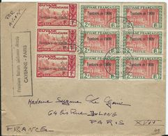 TERRITOIRE DE L ' ININI - GUYANE - Première Liaison Aérienne Directe CAYENNE - PARIS -1949 - Guyane Française (1886-1949)
