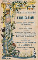 Petit Manuel De Fabrication Des Liqueurs, Sirops, Spiritueux - Distillerie LE LAIZANT à Neuilly Plaisance - Advertising