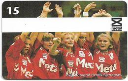 Denmark - Tele Danmark (chip) - Sports Team 2 - TDP156 - 08.1997, 1.800ex, 15kr, Used - Denmark