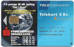 Denmark - Tele Danmark (chip) - Froes Herred Sparekasse - TDP273 - 10.1998, 2.100ex, 5kr, Used - Denmark
