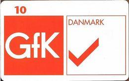 Denmark - Tele Danmark (chip) - GFK Danmark AS - TDP111 - 06.1998, 1.200ex, 10kr, Used - Denmark