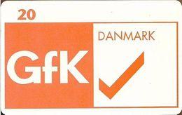 Denmark - Tele Danmark (chip) - GFK Danmark AS - TDP213A - 04.1998, 800ex, 20kr, Used - Denmark