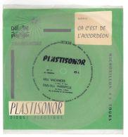 """Disque Plastisonor - Réf MIC 71 - 45 Tours - Plastique Souple Translucide - Série """"Ca C'est De L'accordéon"""" - Formats Spéciaux"""