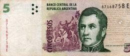ARGENTINA 5 PESOS 2007  P-353a.3  CIRC. - Argentinien