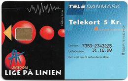 Denmark - Tele Danmark (chip) - Hk Ungdom - TDP176 - 10.1997, 5.500ex, 5kr, Used - Denmark