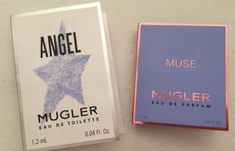 T. MUGLER    : 2  Echantillons  Tubes Sur Cartes : Angel & Muse - Perfume Samples (testers)