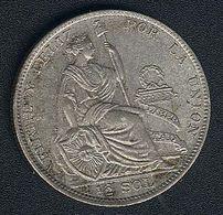 Peru, 1/2 Sol 1929, Silber, KM 216, XF - Pérou