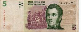 ARGENTINA 5 PESOS 2003  P-353a.1  CIRC. - Argentinien