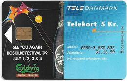 Denmark - Tele Danmark (chip) - Roskilde Festival '98 - Carlsberg - TDP228 - 05.1998, 500ex, 5kr, Used - Denmark