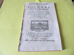 LA CORSE HISTORIQUE - GIACINTO PAOLI - LES REBELLES - CORTE , BASTIA , AJACCIO - LES PIEVES  - 1739. - Periódicos