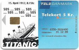 Denmark - Tele Danmark (chip) - Titanic Final Edition - TDP223 - 05.1998, 800ex, 5kr, Used - Denmark
