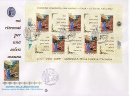 """2009 - SAN MARINO - FDC """" GIORNATA DELLA LINGUA ITALIANA """" FILAGRANO VEDI++++ - FDC"""